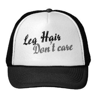 Leg hair don't care trucker hat