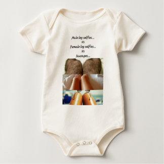 Leg Selfies Vs Sausages... Baby Bodysuit