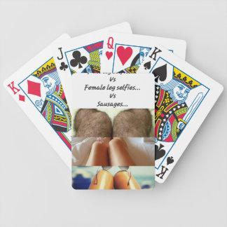 Leg Selfies Vs Sausages... Bicycle Playing Cards
