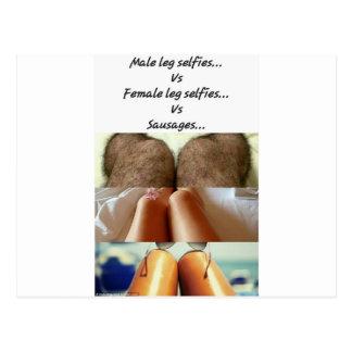 Leg Selfies Vs Sausages... Postcard