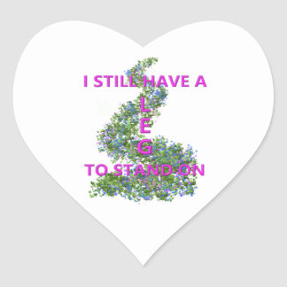 Leg To Stand On, flowers Heart Sticker