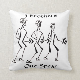 Legacy of 3 throw pillow