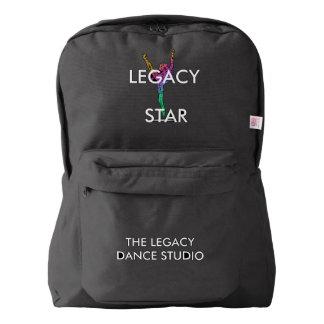 Legacy star Backpack Dance Bag- BLACK