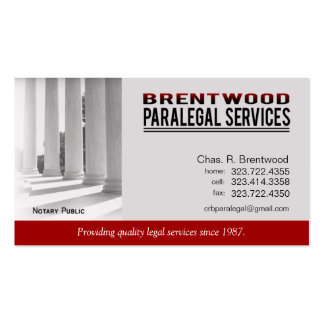 Legal1 Paralegal Law Office Services Notary Public Business Card Template