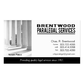 Legal1 Paralegal Law Office Services Notary Public Business Card Templates