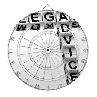 Legal Advice Dice Graphic Dartboards