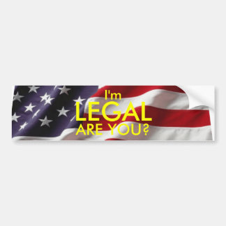 Legal Bumper Sticker