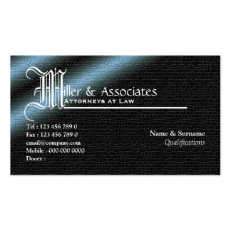 Legal law attorney lawyer firm pack of standard business cards