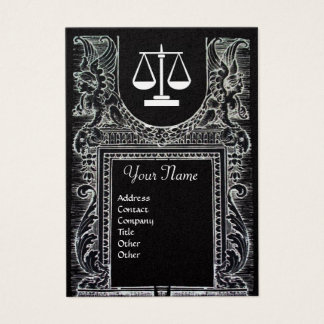 LEGAL OFFICE, ATTORNEY Monogram Gold Metallic Business Card