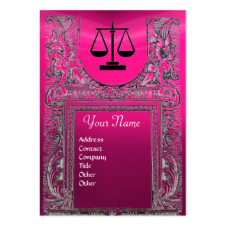 LEGAL OFFICE, ATTORNEY Monogram ,pink Large Business Card