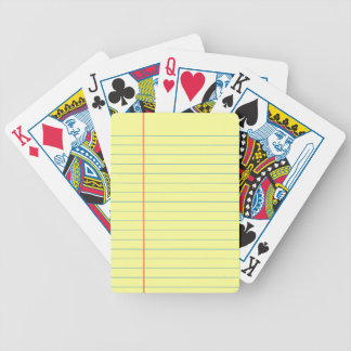 Legal Pad Pattern Bicycle Playing Cards