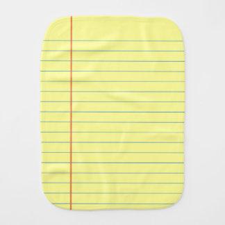 Legal Pad Pattern Burp Cloth