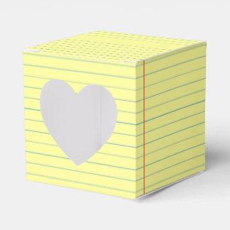 Legal Pad Pattern Favor Box
