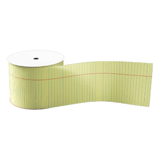 Legal Pad Pattern Grosgrain Ribbon