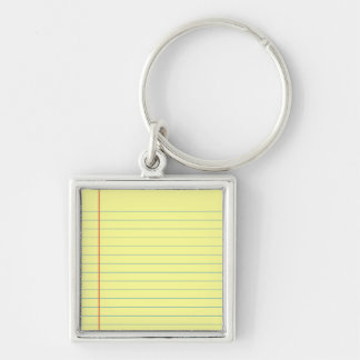 Legal Pad Pattern Keychain