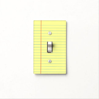 Legal Pad Pattern Light Switch Cover