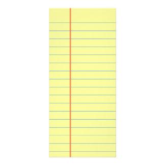 Legal Pad Pattern Rack Card