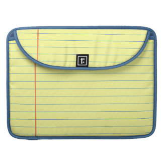 Legal Pad Pattern Sleeve For MacBook Pro
