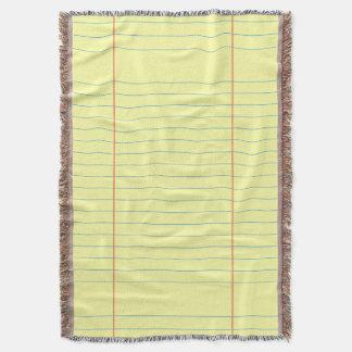 Legal Pad Pattern Throw Blanket