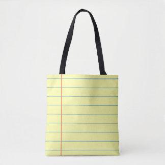 Legal Pad Pattern Tote Bag