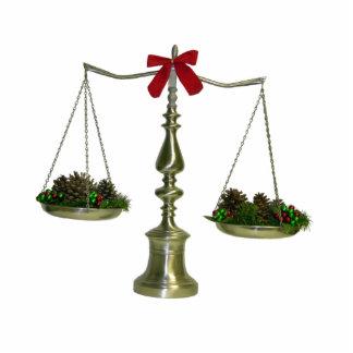 Legal Scales Christmas Ornament Photo Sculpture Ornament