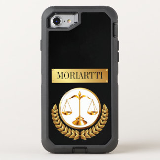 Legal Scales of Justice OtterBox Defender iPhone 8/7 Case