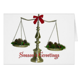 Legal Scales Season's Greetings Card