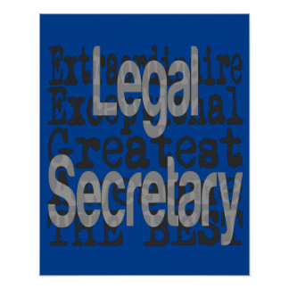 Legal Secretary Extraordinaire Poster