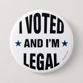 Legal Voter 1 button 3-inch