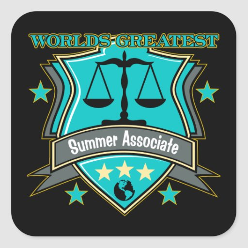 Legal World's Greatest Summer Associate Square Stickers