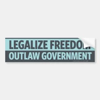 Légalisez la liberté, adhésif pour pare-chocs pros autocollant de voiture