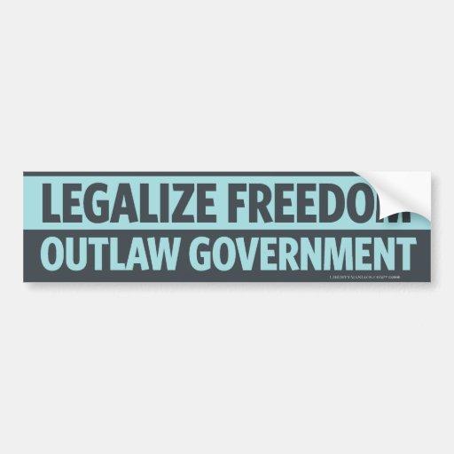 Légalisez la liberté, adhésif pour pare-chocs pros autocollants pour voiture