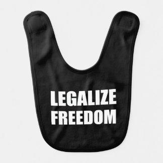 Legalize Freedom Baby Bibs
