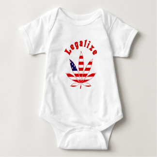 Legalize Marijuana in the US Baby Bodysuit