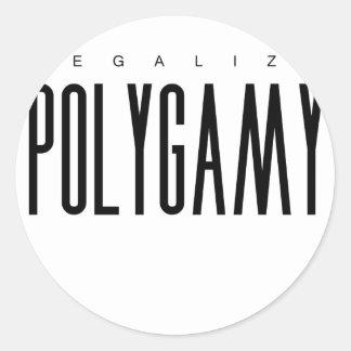 Legalize Polygamy Classic Round Sticker