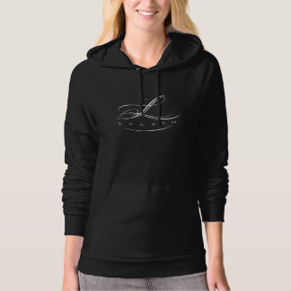 Legato Hoodie for women (black w/white logo)