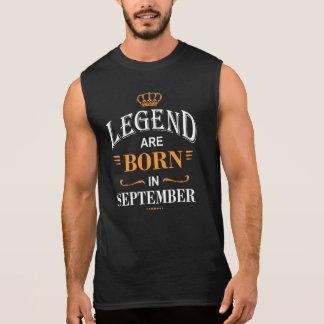 Legend Are Born In September Sleeveless Shirt