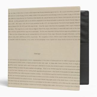 Legend Atlas to the Geology Of The Aspen District Vinyl Binder
