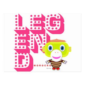 Legend-Cute Monkey-Morocko Postcard