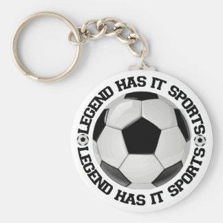 Legend Has It Sports Soccer Keychain