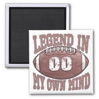 Legend in My Own Mind Football Gear Magnet