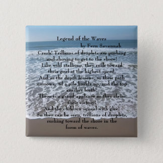 Legend of the Waves - Fern Savannah; Button / Pin