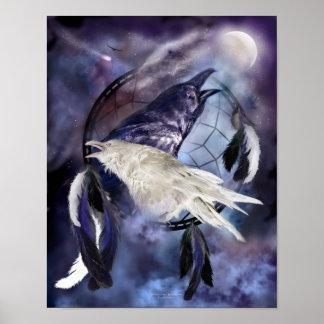 Legend Of The White Raven Art Print