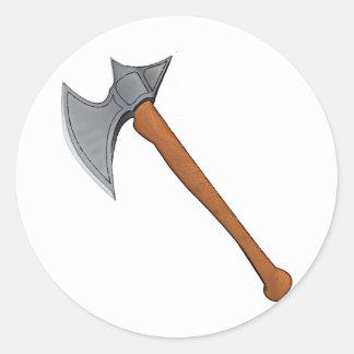 Legendary battle axe round sticker