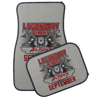 Legendary Bikers Are Born In September Car Liners