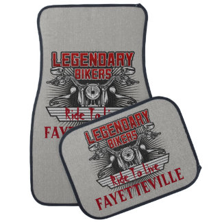 Legendary Bikers Ride To Live (Any City Name) Car Mat