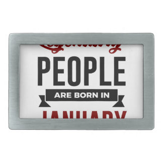 Legendary Born In January Babies Birthday Belt Buckles