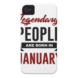 Legendary Born In January Babies Birthday iPhone 4 Case-Mate Case