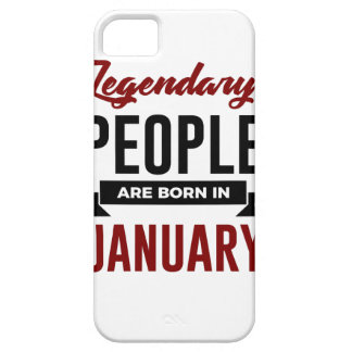 Legendary Born In January Babies Birthday iPhone 5 Cases