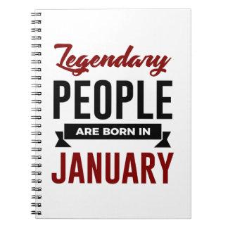 Legendary Born In January Babies Birthday Notebook